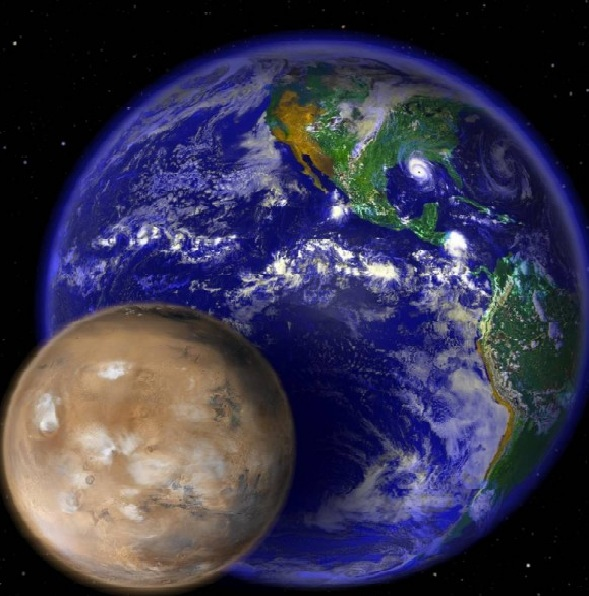 Mars Earth NASA